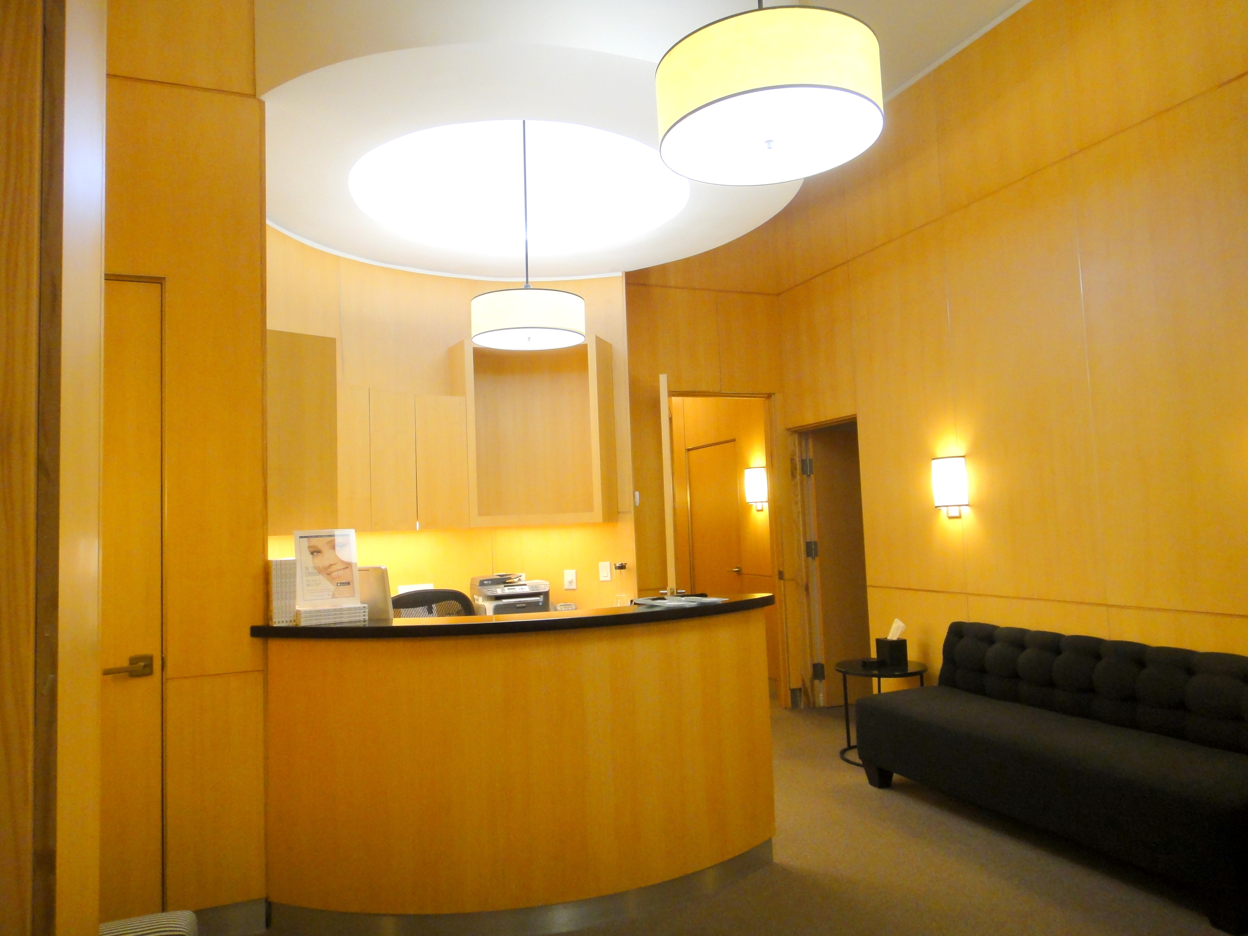 Relax in our stylish, contemporary reception area with a cup of tea or soft drink.