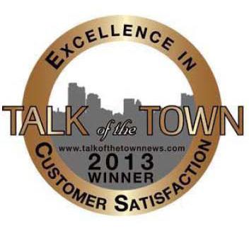 Talk of the Town Customer Satisfaction Award 2013