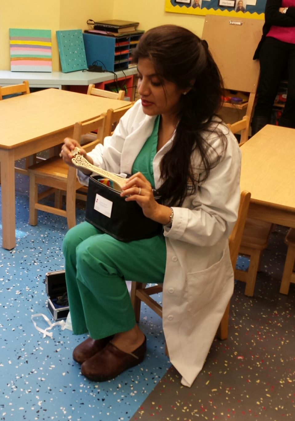 Dr. Devgan demonstrating how to be a doctor.
