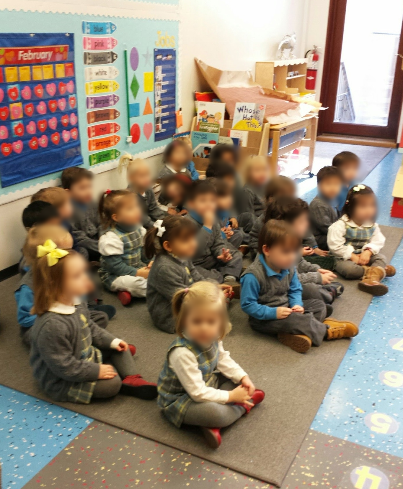 Preschoolers listening and learning.