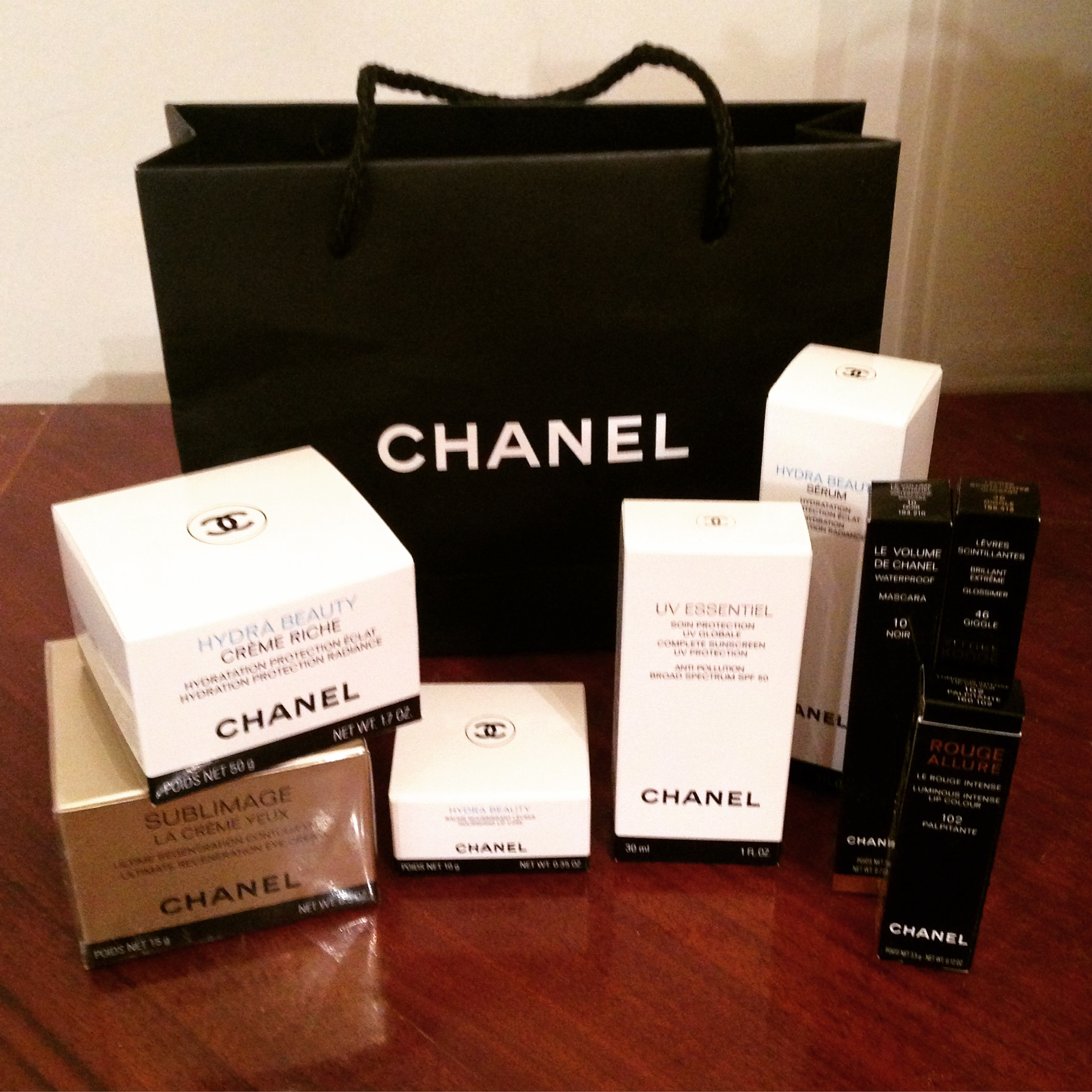 Chanel beauty products from facial surgery patient