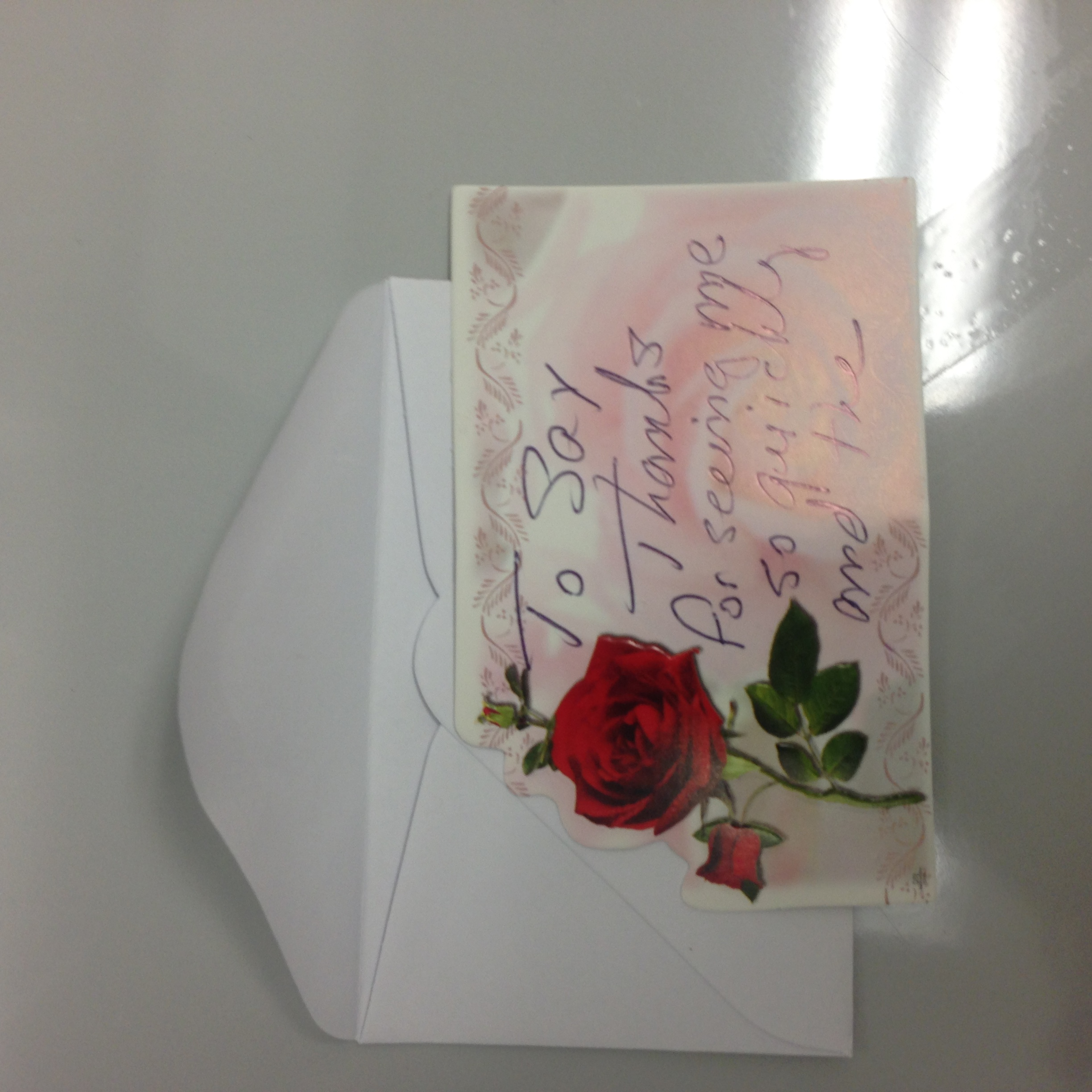 Card from a face and breast patient