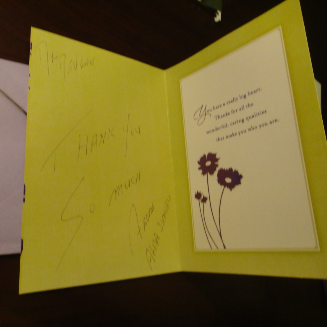 Thank you card from a breast cancer reconstruction patient, 4/10/14