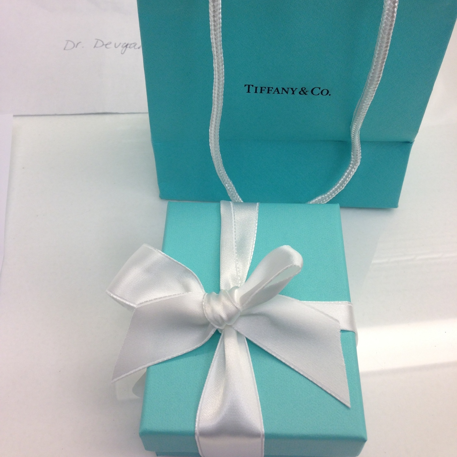 Gift box from a breast lift and liposuction patient