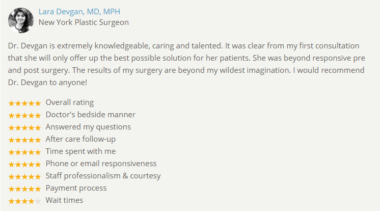 Verified review of Dr. Devgan from RealSelf.com.