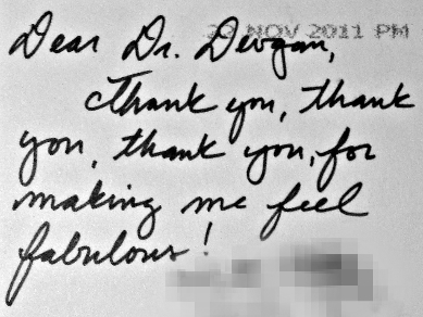 Letter from a Botox and filler patient