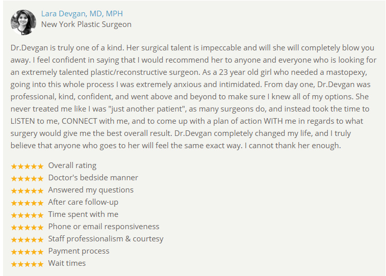 Verified patient review from RealSelf.com.