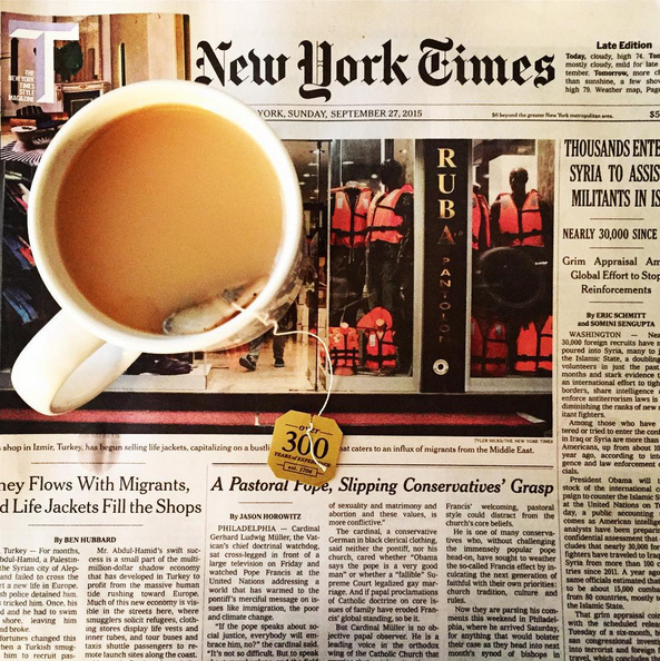 New York Times cup of tea