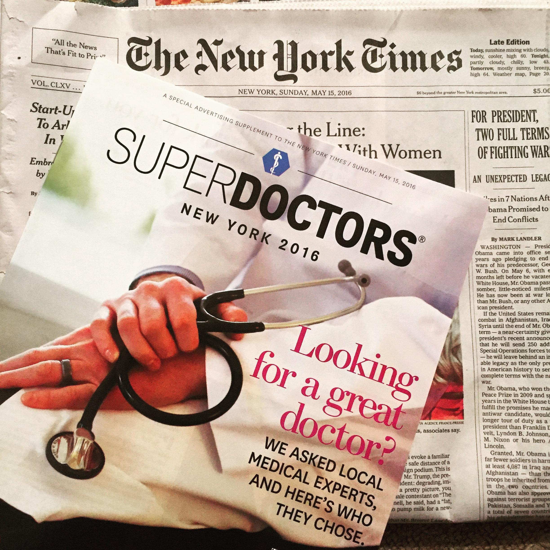 best plastic surgeon NYC female plastic surgeon NYC NYTimes Superdoctor