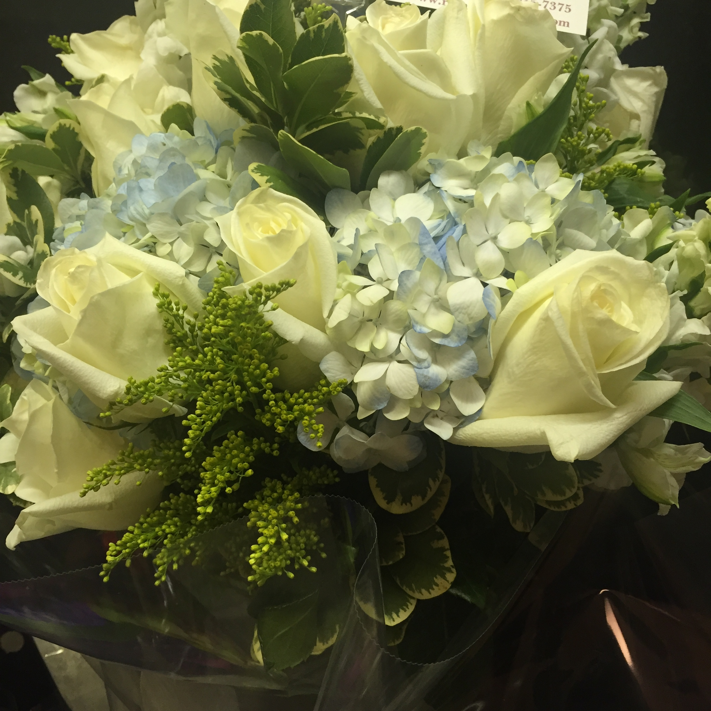 Flowers from a facelift and eyelift (blepharoplasty) patient