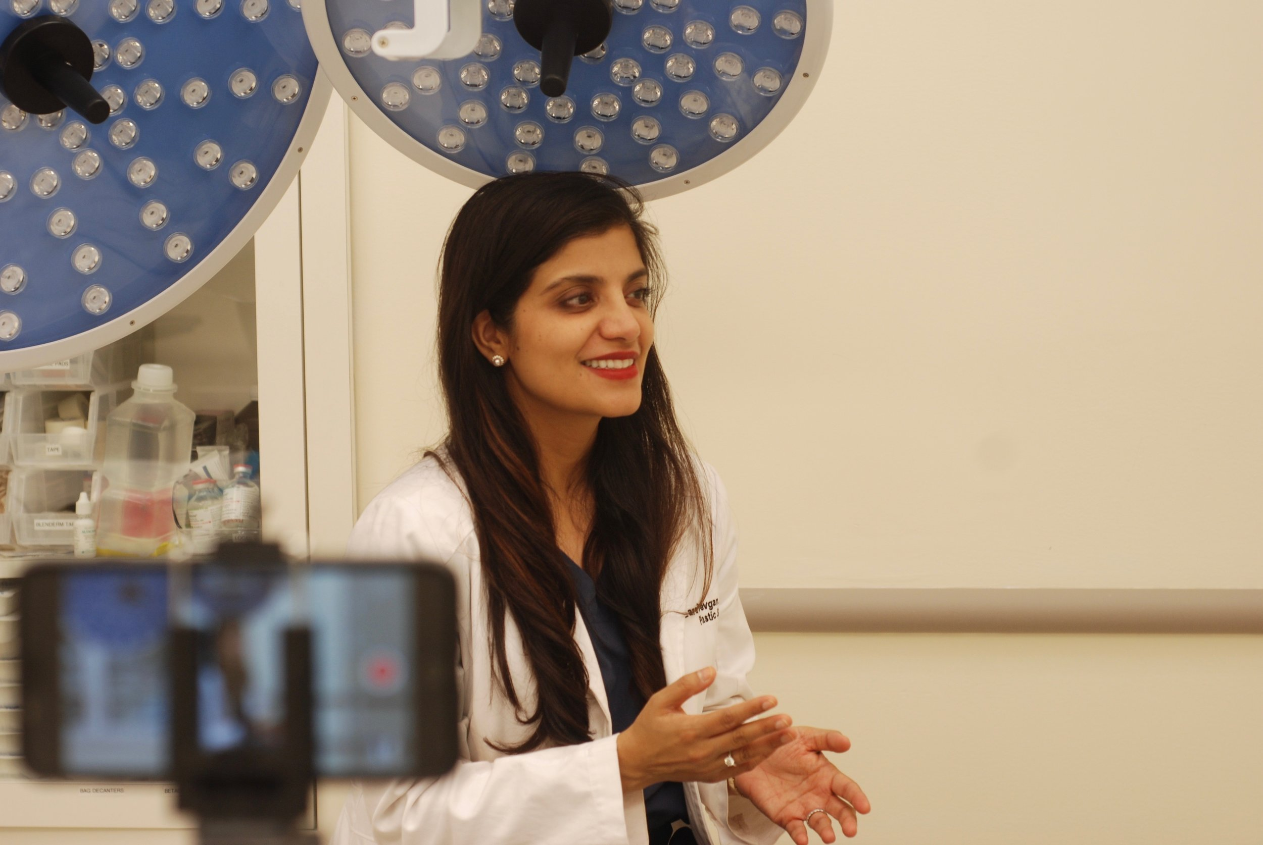 Dr. Devgan at her private practice, Upper East Side, New York, NY