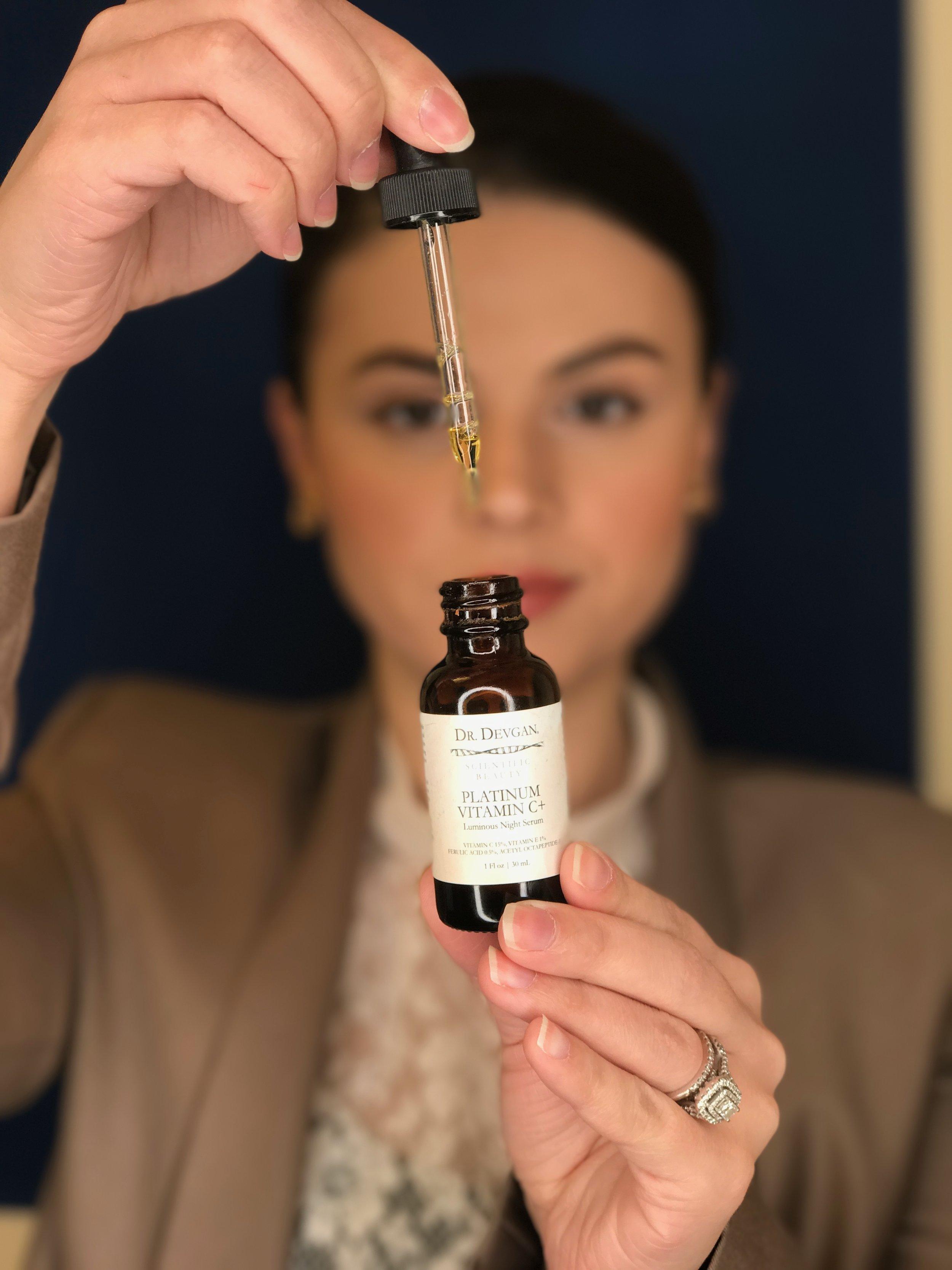 Scientific Beauty's Platinum Vitamin C+ Luminous Night Serum