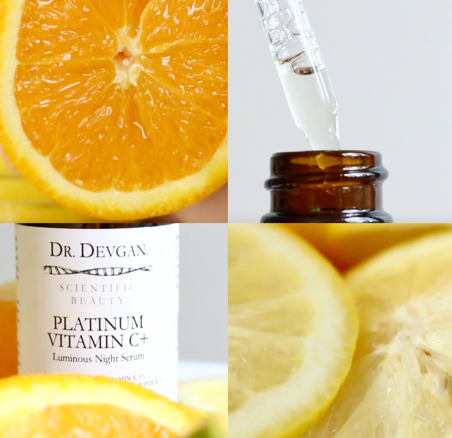 Scientific Beauty's Platinum Vitamin C+ Serum is rich in antioxidants which helps combat free radicals