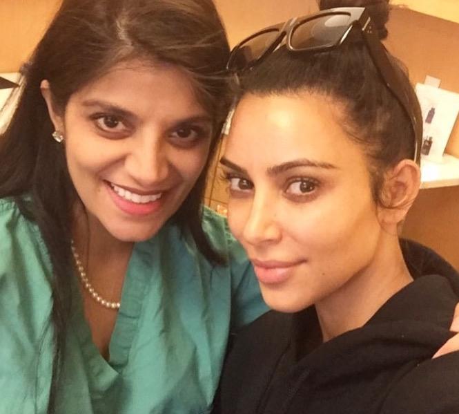 Dr. Devgan with Kim Kardashian in her private practice in New York City