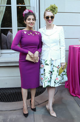 The Frick Spring Garden Party; Dr. Devgan (left) and Lucy Lang (right).