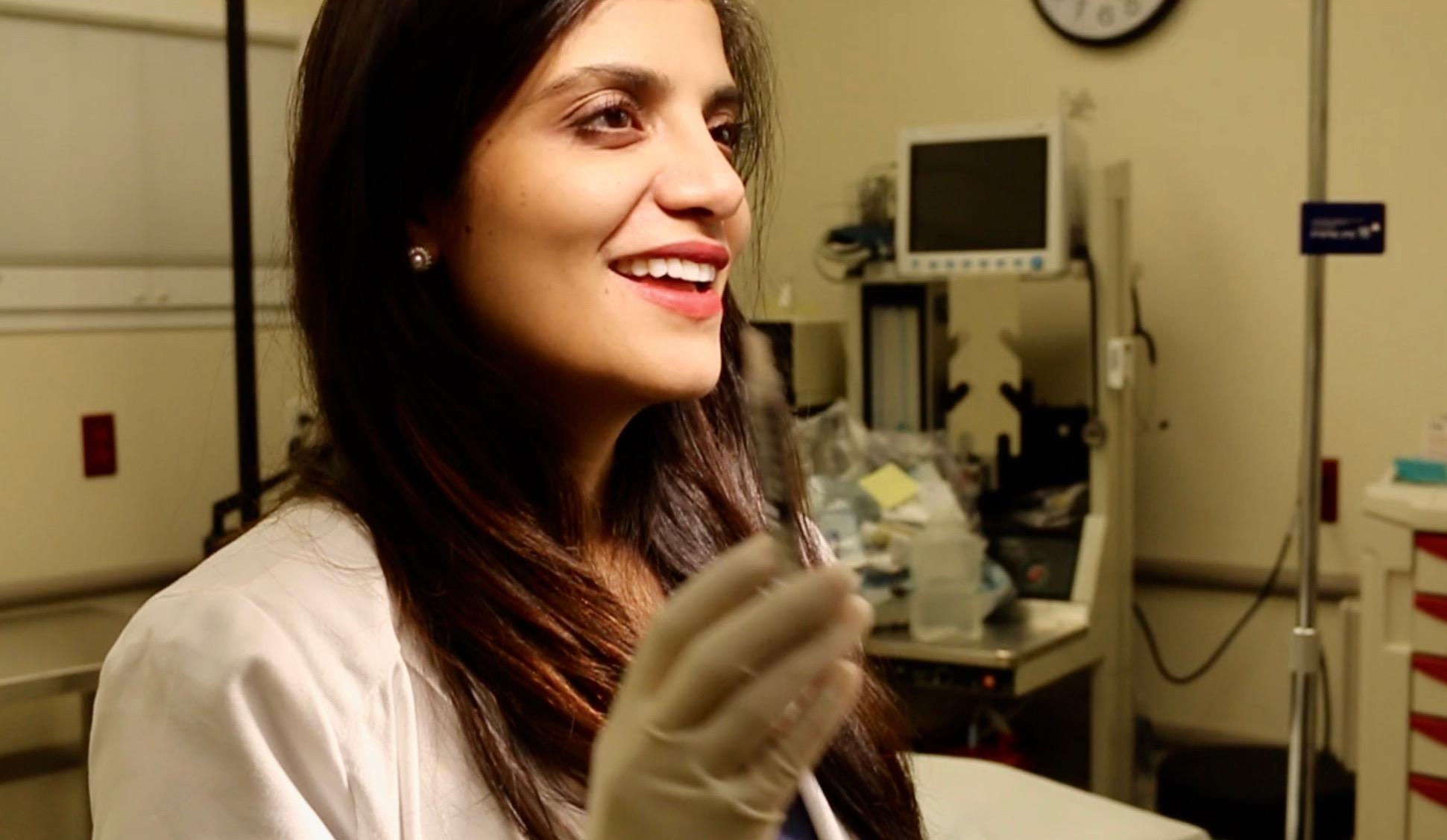 Dr. Devgan in her private practice in New York City