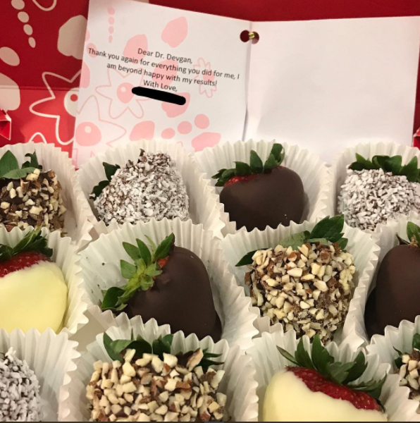 Edible Arrangements from a surgical patient