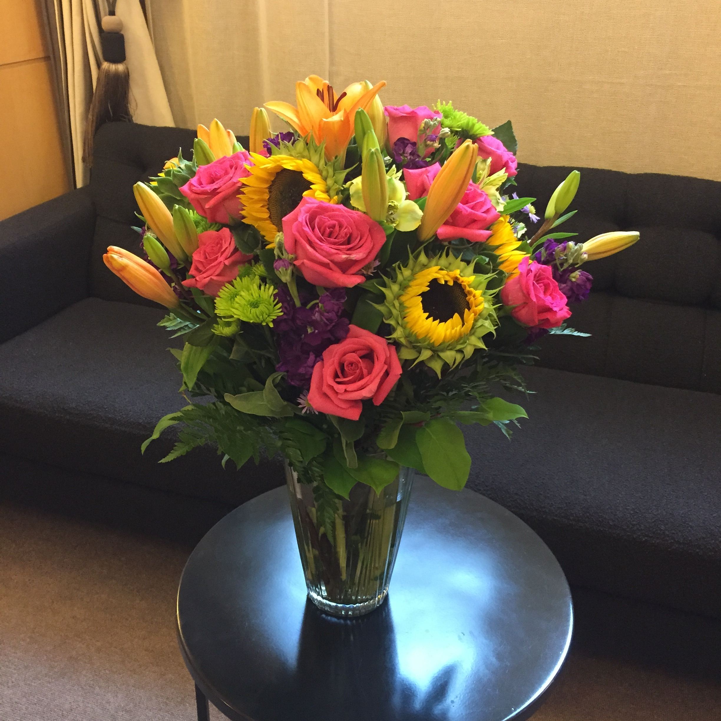 Flowers from a breast lift and tummy tuck patient