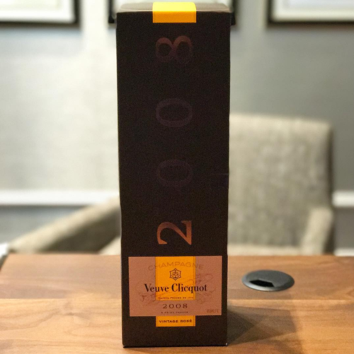 Rare vintage Veuve Clicquot from a breast augmentation and filler patient