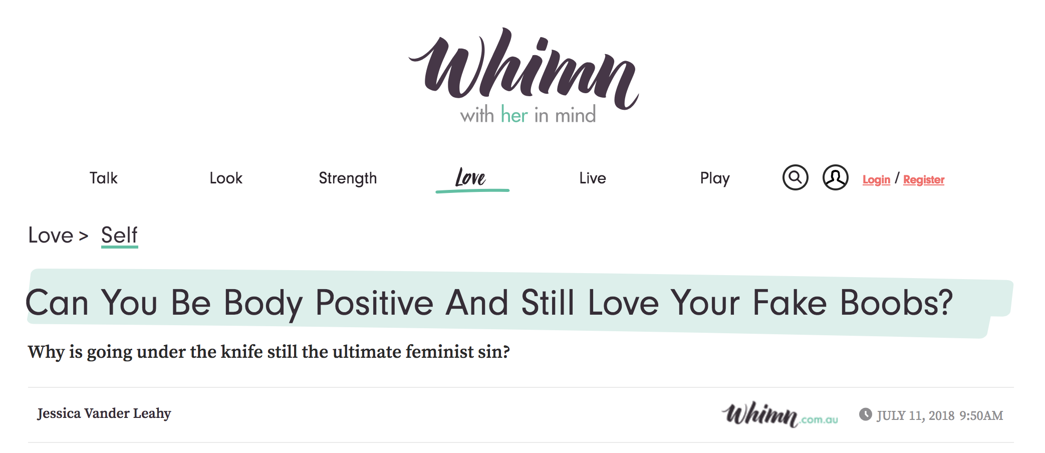 Dr. Devgan featured in Whimn.