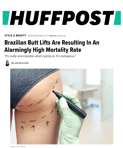 Huffington Post asks Dr. Devgan to weigh in on the alarmingly high mortality rate from Brazilian Butt Lifts. She offers insight on the subject as well as safer alternatives