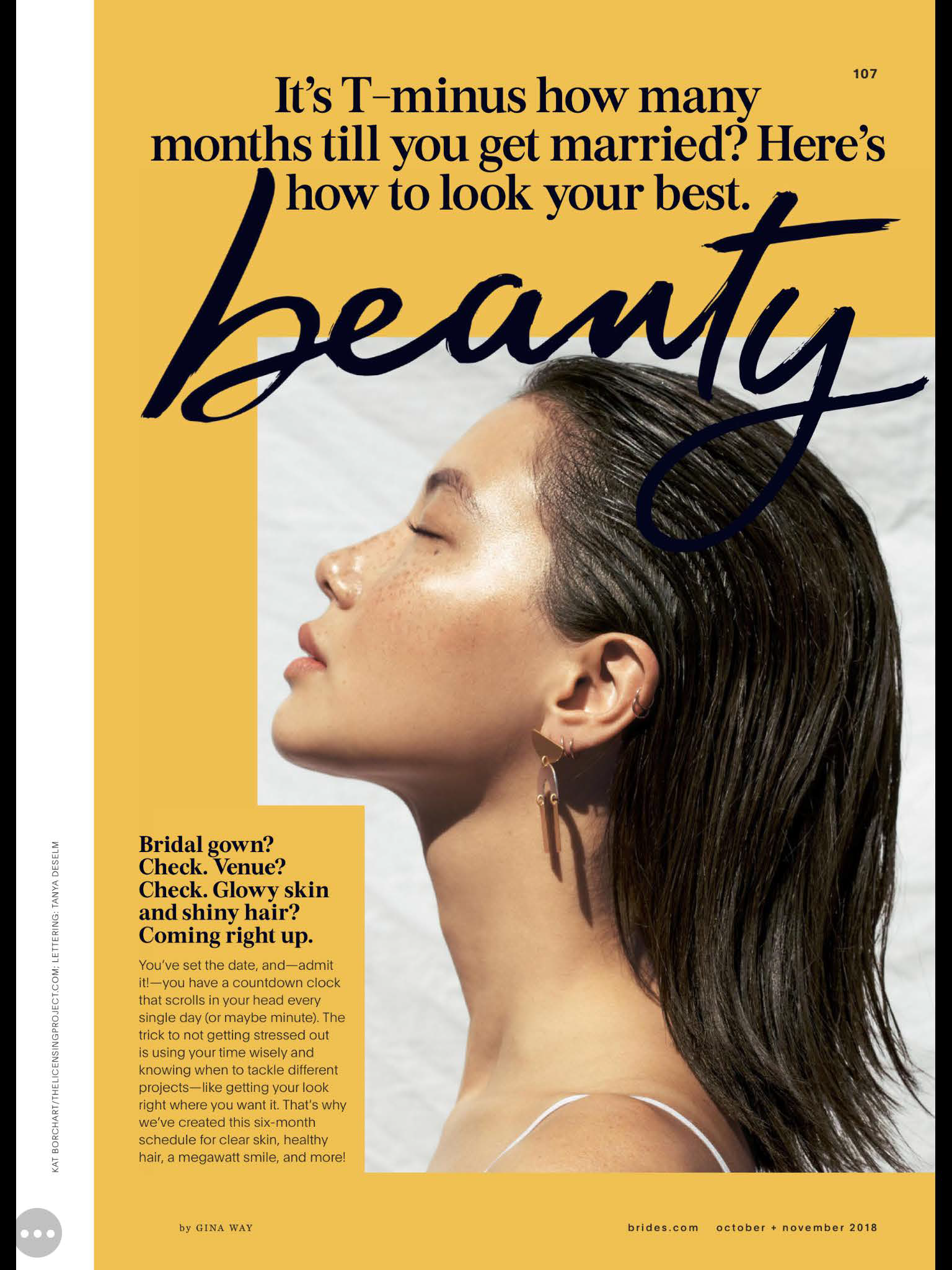 """Around six months before your wedding is a good time to start looking into skin rejuvenation. Small but impactful changes can be made using injectable fillers, """"you want to be sure you're happy with the results, if you don't love it, fillers can be dissolved with and [eraser] enzyme.""""  Click  here  to read the full article"""