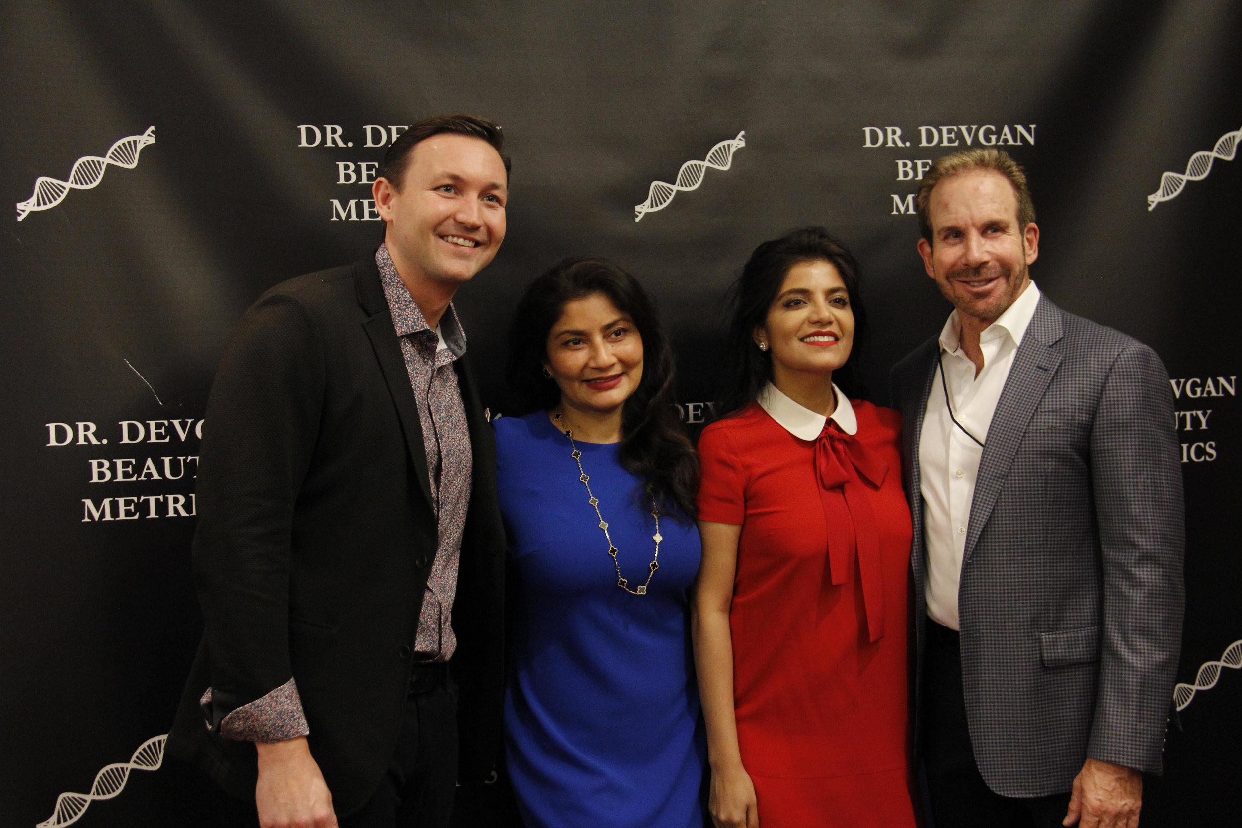 Pictured from left to right: Dr. Christopher Surek, Dr. Kay Durairaj, Dr. Lara Devgan, and Dr. David Funt