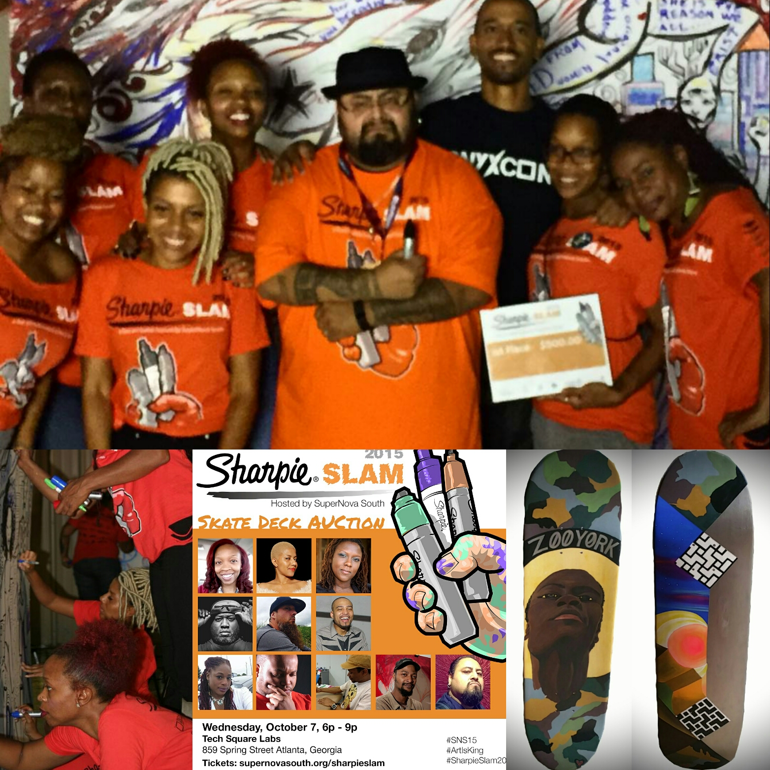 SHarpie Slam 2015|Harold Hunter Commemorative Skate Deck
