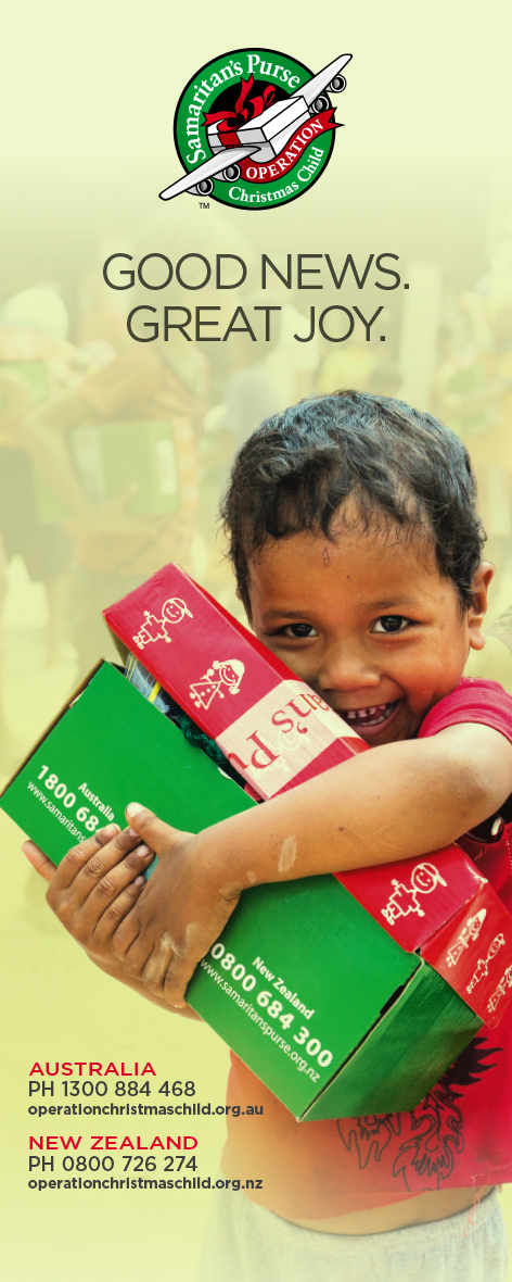 Banner design for Operation Christmas Child