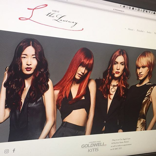 New website for Hair at The Laneway is live. thelaneway.co #hairatthelaneway