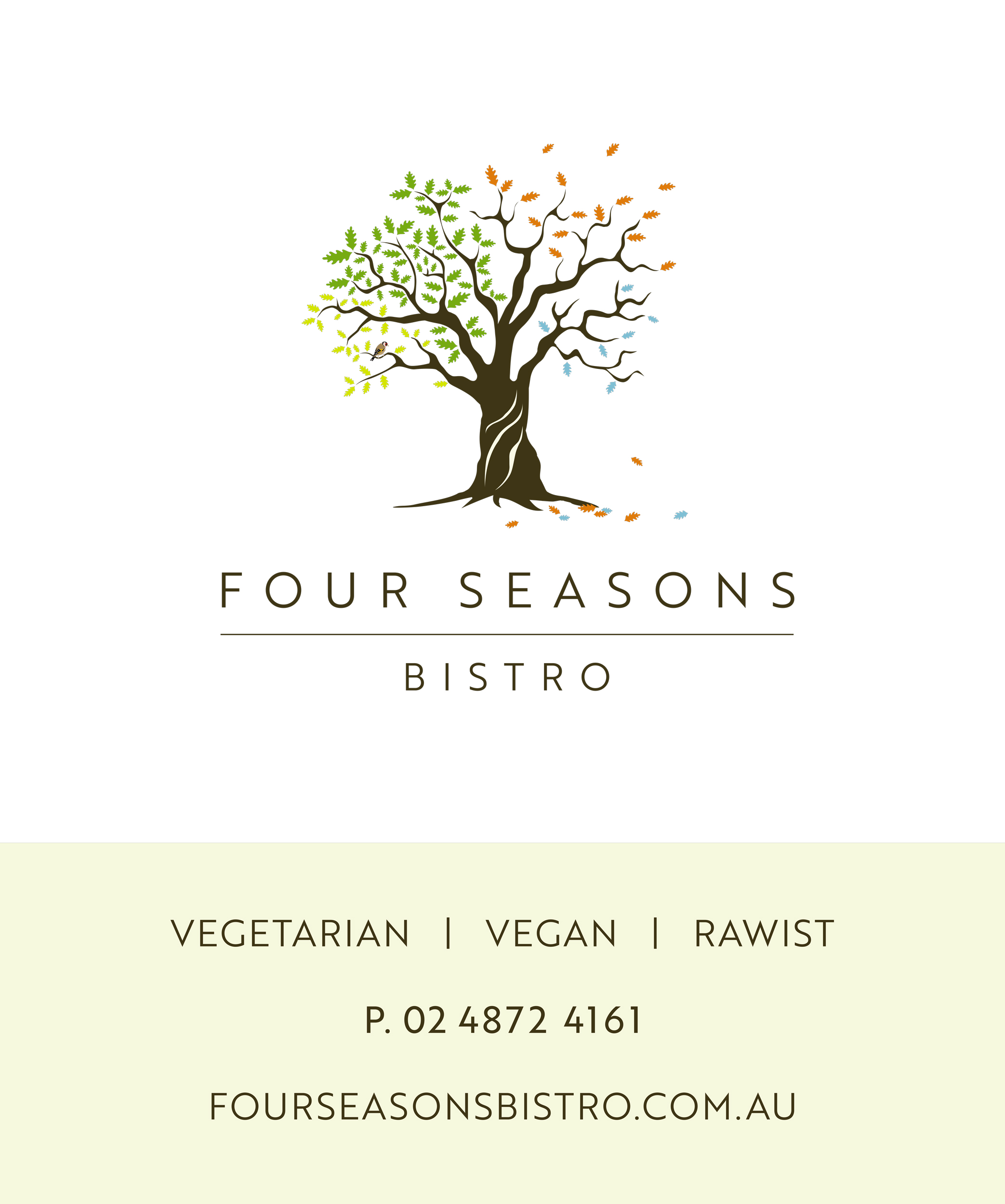 Window Sign for Four Seasons Bistro