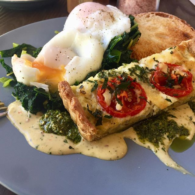 Delicious breakfast today at my clients cafe @fourseasonsmittagong (the roast tomato tart was amazing!!)