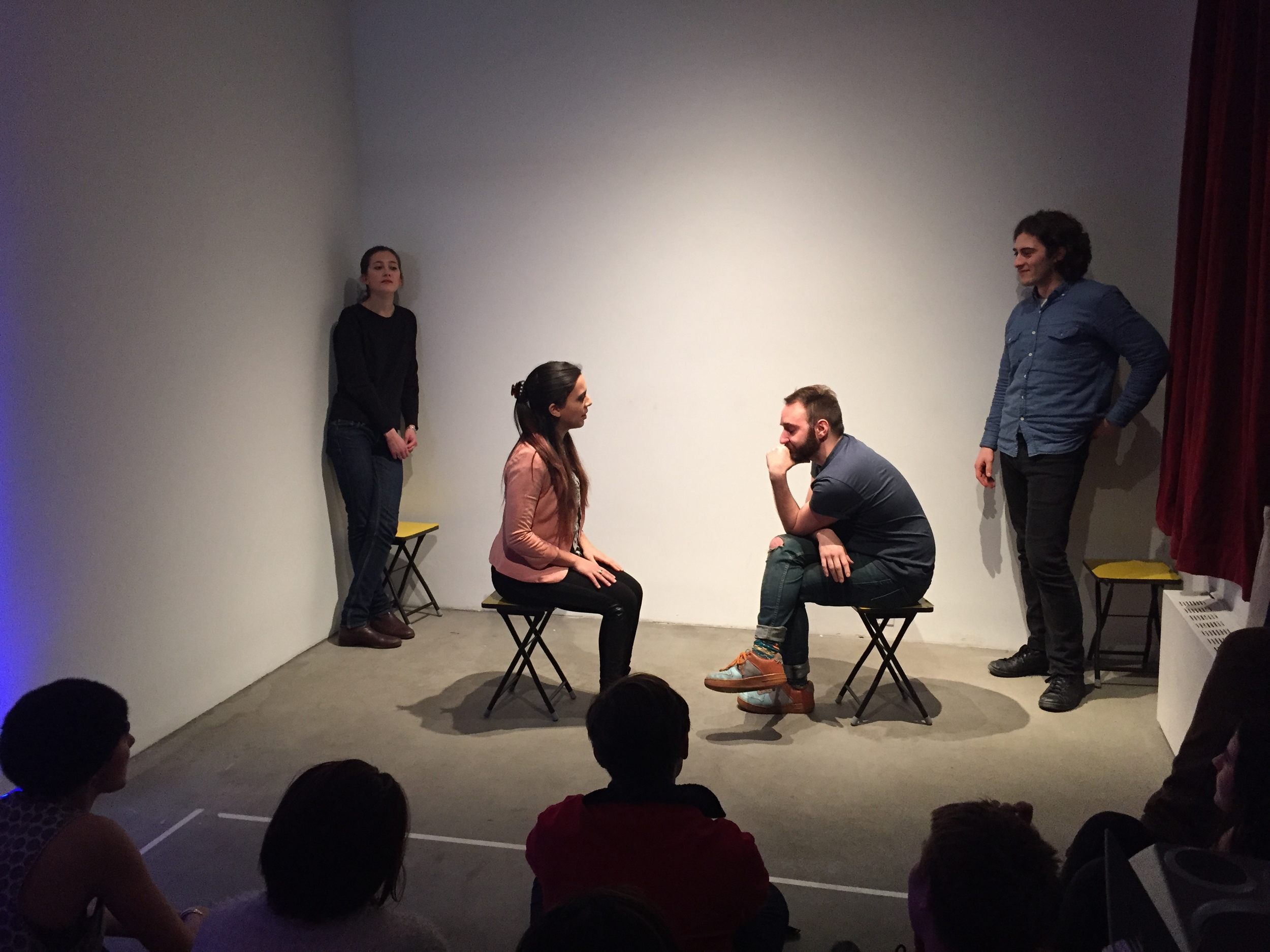 Improv performance by Peter Valenti, et al., Saturday, February 14, 2015, photo courtesy of Emma Benschop