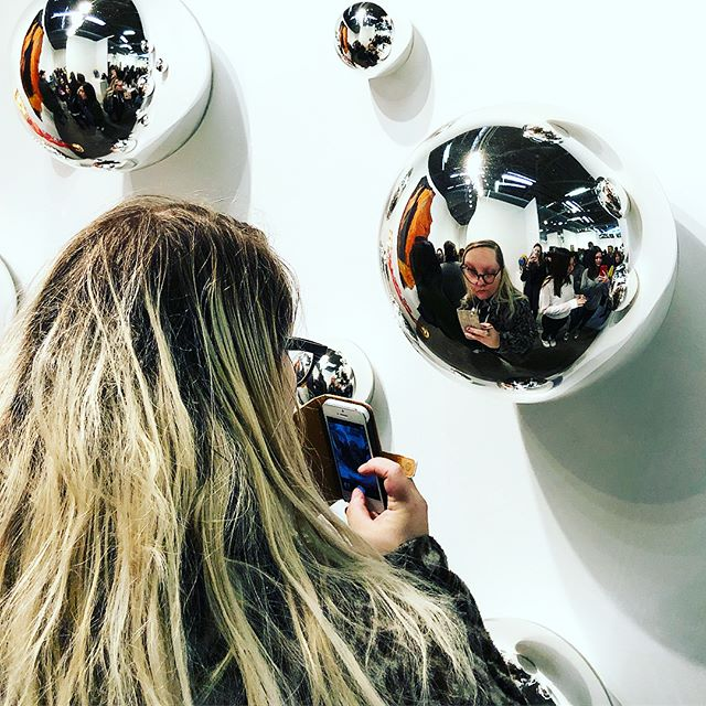 Lights, cameras and lots of selfie action at the Armory Show... #artsselfies #contemporaryart #artfairs