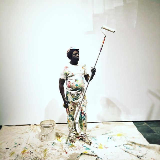 Duane Hanson's👌🏻opener to the new, provocative figurative sculpture show, #likelife, opening @metbreuer tomorrow.