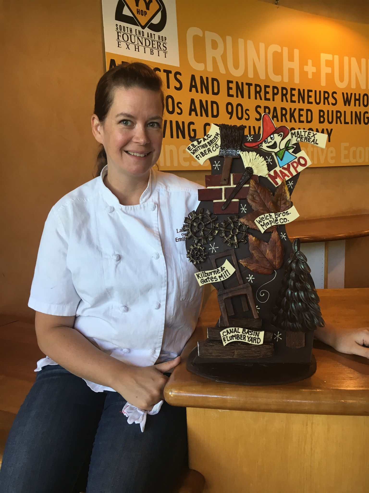 Have you ever wondered how  Chocolate Sculptress , Emily McCracken creates her incredible works of chocolate art? Join Emily at our Pine Street store on Saturday, October 21st from 2-3 for a FREE Chocolate Sculpture Demo! Watch and learn as Emily shares tips and techniques for crafting a beautiful sculpture to celebrate the fall season made entirely out of chocolate!