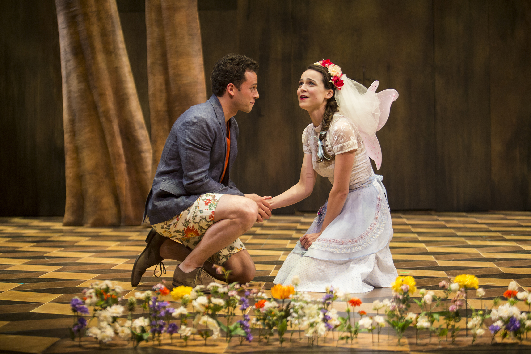 A.Z. Kelsey as Florizel and Maya Kazan as Perdita in The Winter's Tale at the The Old Globe in San Diego.