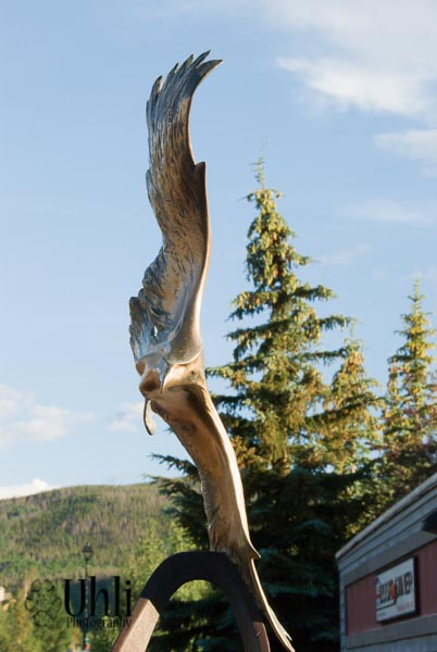 7.19.13 - Eagle  Statue on Main Street in Frsico.