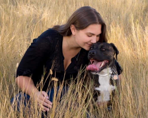 Bailey & I 2015 - Photo by Amy with Colorado pet photography #MissBailey