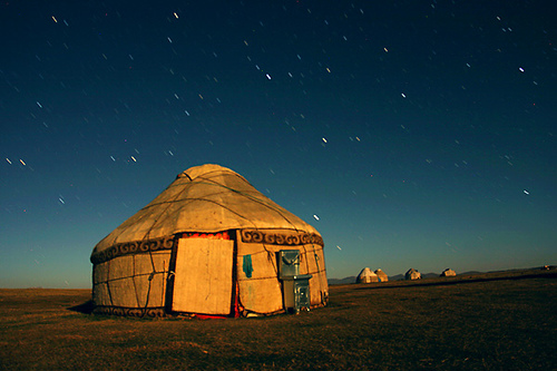 This is a yurt...in case you didn't know.