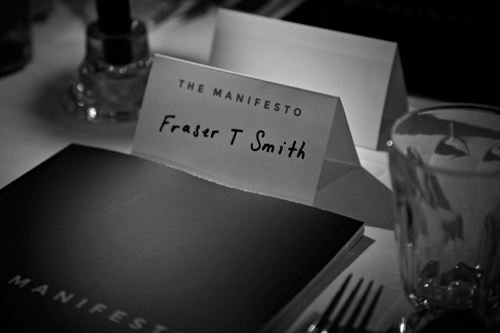 Table setting for Fraser T Smith