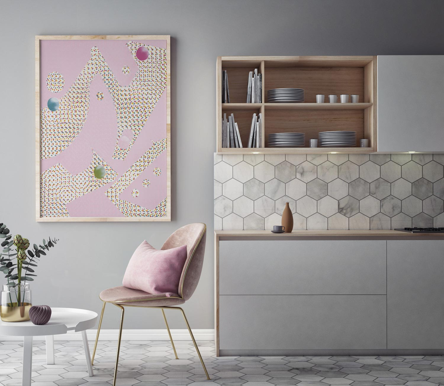 It's Raining Dots - Find Canvas and Paper Prints at SaatchiArt.com