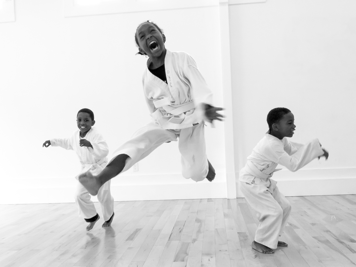 Free Martial Arts class in a center donated by a West Oakland developer.