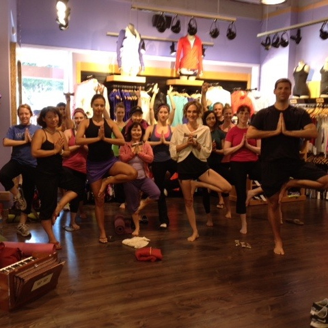 Yoga at Lululemon
