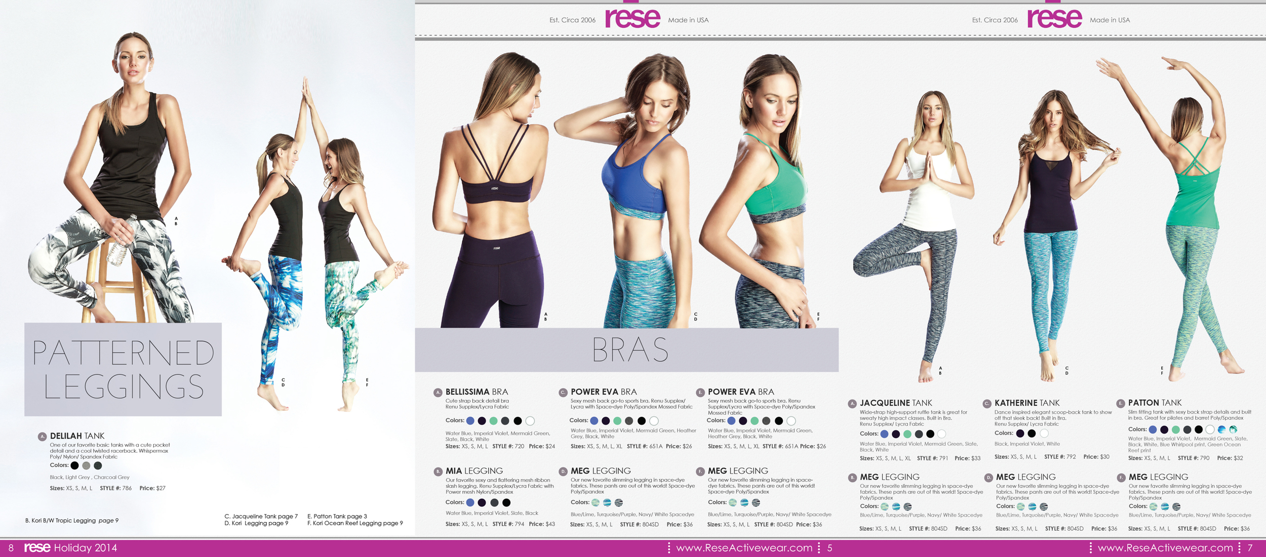 Rese Activewear Photographed by Bradford Rogne