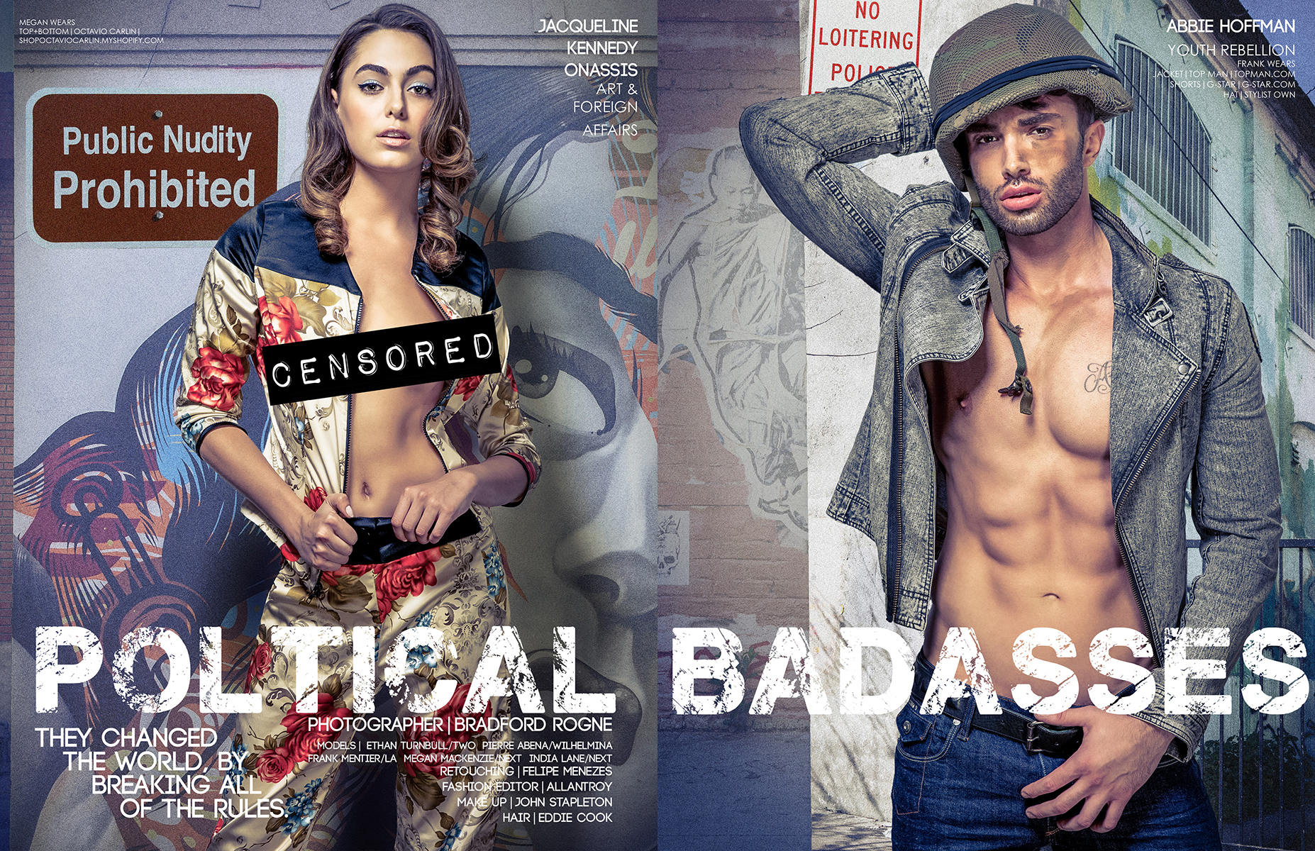 Political Badasses Editorial Photographed by Bradford Rogne