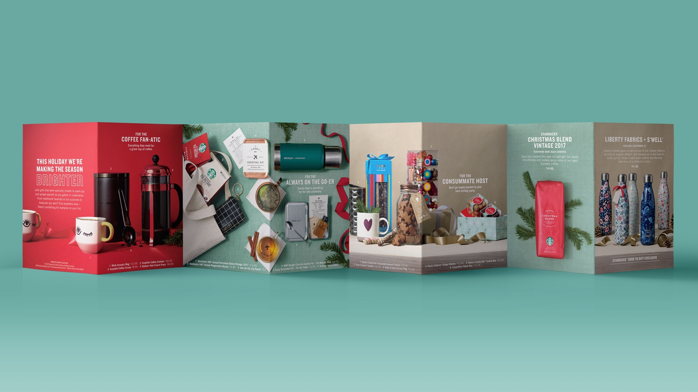 Christmas Gift Guide Layout.Starbucks Holiday Gift Guide Michael Lortz