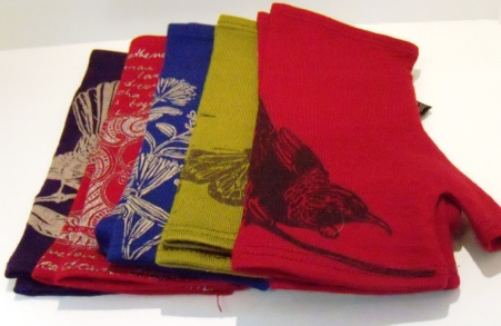 Merino Fingerless Mitts Short $39.50 Available in a large range of colours and prints.