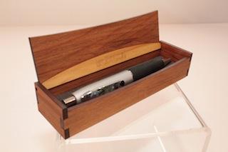Ian Blackwell Paua Trim Pen in Rimu Box $41 - 30mm x 40mm x 160mm (box dimensions).