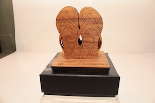 Ian Blackwell Rimu Classic Coasters Jandals $47 - approx 90mm x 80mm each and base 90mm x 90mm.